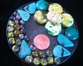 Czech Glass  and Semi Precious Stone Bead Destash