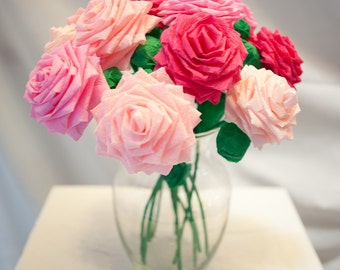 Paper Flower Bouquet - Mixed Pink