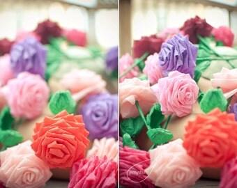 Paper Flower Bouquet - 2 Dozen Long-stem Custom Handmade