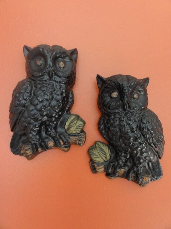 Vintage Black Owls