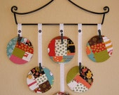 Recycled CD Picture Frames with Black Iron Hanger