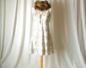 floral mini silk dress size small