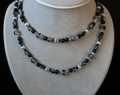 Silver-and-Ice Necklace and Earrings Set