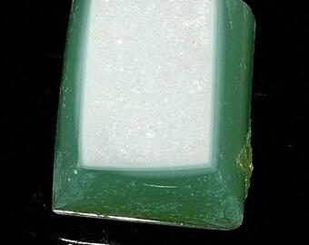 Aqua green druzy agate Cabochon B2DR45