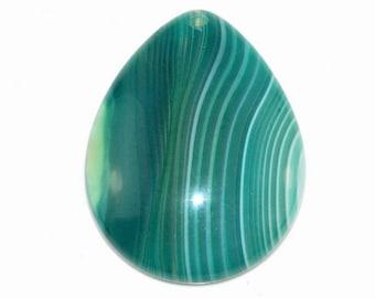 Green Stripe Agate Pendant Bead GSA168419