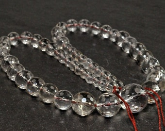Stunning Smoky Quartz Faceted Round beads full strand 15 inches LB1676