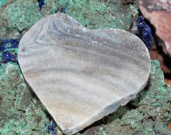 Lovely Heart Shaped Brazilian Chalcedony Druzy Cabochon J13B7402