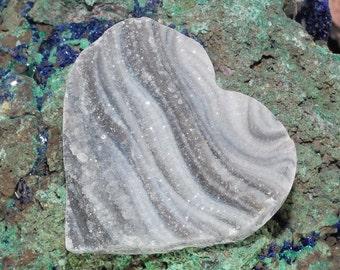 Amazing Heart Shaped Brazilian Chalcedony Druzy Cabochon J13B7415