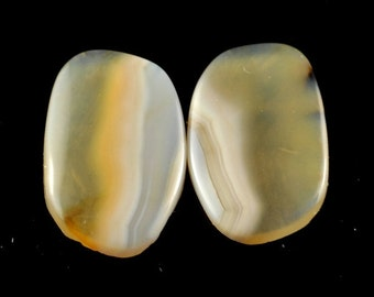 1 Pair AAA Agate Cabochon K3B3548