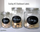 Scallop no.2  Chalkboard Labels