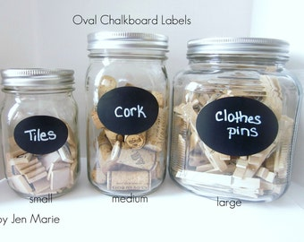 Oval Chalkboard Labels