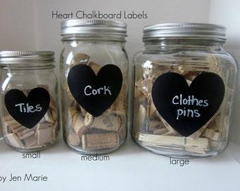 Heart Chalkboard Labels