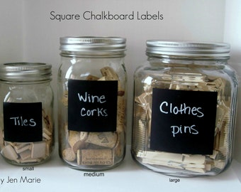 Square Chalkboard Labels
