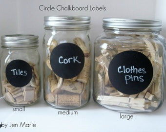 Circle Chalkboard Labels