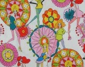 Dandy Girls Print Pure Cotton Fabric from ALexander Henry--One Yard