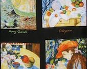 Impressionist Artists Panel Print Pure Cotton Fabric--One Panel