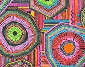 REMNANT--Wild Colorful Geometric Atzlan Print Cotton Fabric from Alexander Henry--1.75 Yards