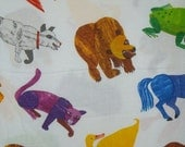 Brown Bear Brown Bear Print Pure Cotton Fabric from Andover--One Yard