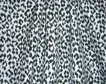 SPECIAL--Black Gray and SIlver Animal Pattern Cotton Brocade--One Yard