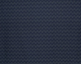Striated Design Japanese Indigo Print Fabric--One Yard