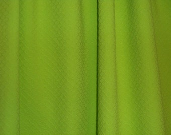 SPECIAL--Apple Green Cotton  Stretch Pique Fabric--One Yard