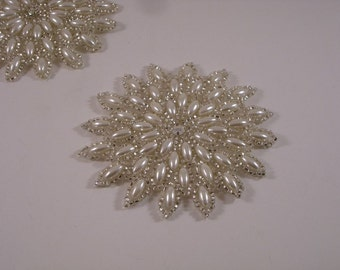 Starburst Pearl and Silver  Applique--One Piece
