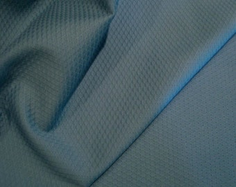 Copen Blue Pure Cotton Waffle Pique Fabric--One Yard