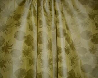 SPECIAL--Lemon Yellow Floral Pattern Designer Brocade Fabric--One  Yard