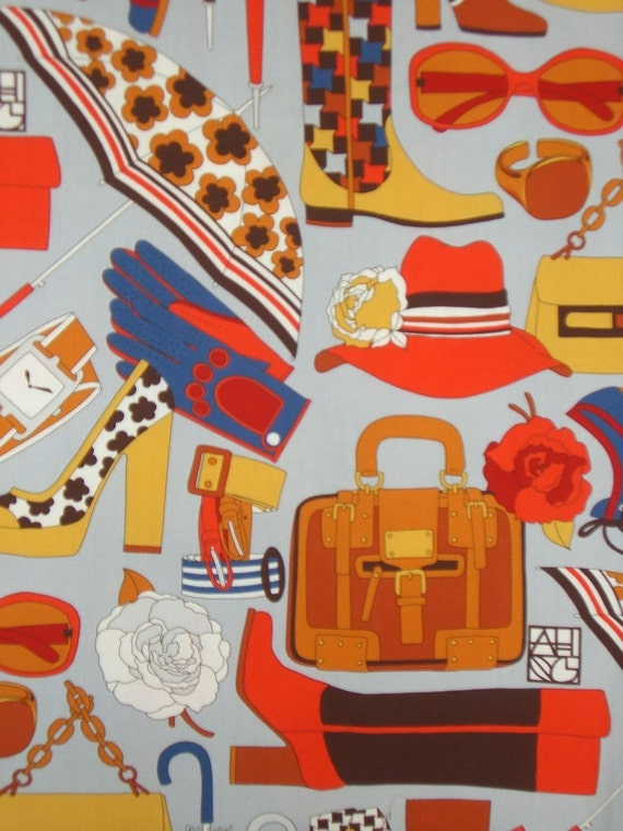 REMNANT--Ladies Accessories Print Cotton Fabric--1 Yard