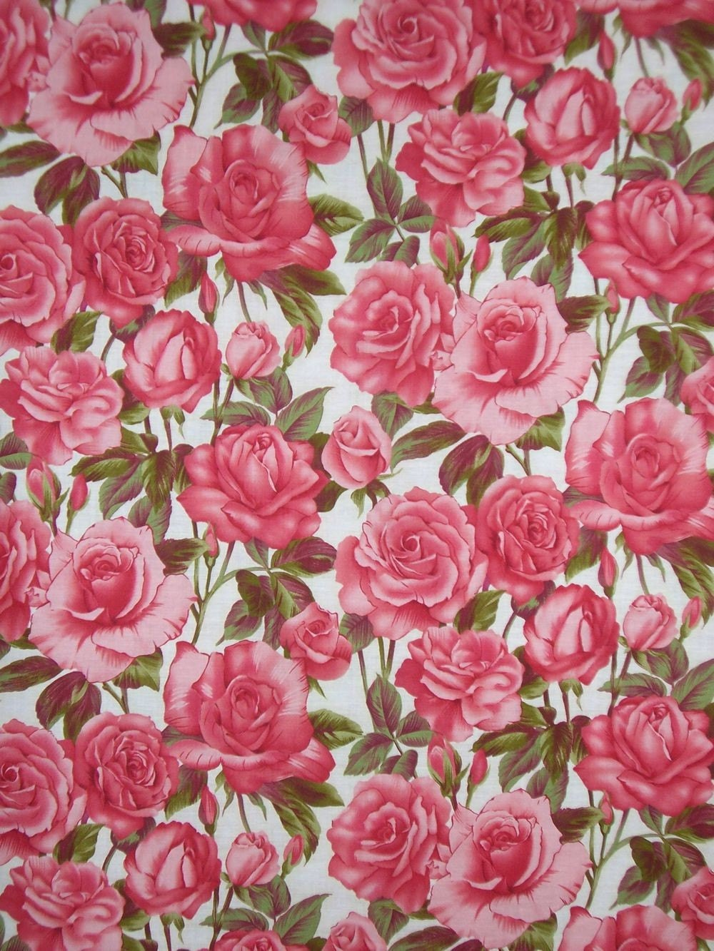 Rose Print Cotton Fabricone Yard