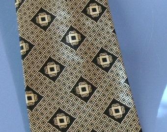 Vintage  Sixties Print Tie