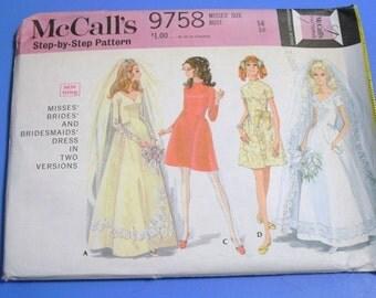 Vintage 1969 Brides Dress Pattern