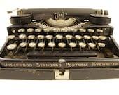 1920's Underwood Portable Typewriter
