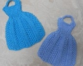 Let's Go to Paris Dress Dish Cloth Knitting Pattern