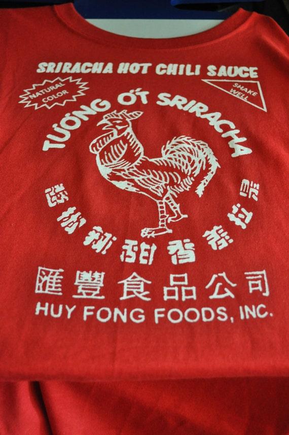 Custom made Asian Hot Sauce Shirts Made- to-Order