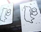 Bonk - Original Art - Hand Pulled Linoleum Cut - Lino Cut