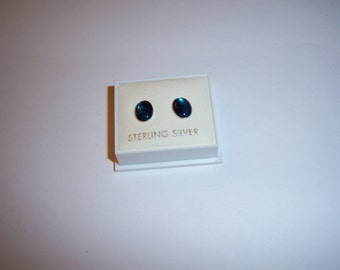 Sterling Silver .925 studs with shell or hematite inset