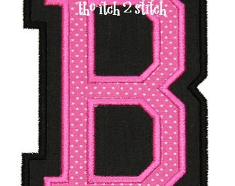 """Double Applique Varsity Font Satin Finish 3"""", 4"""", and 5"""" INSTANT DOWNLOAD now available"""
