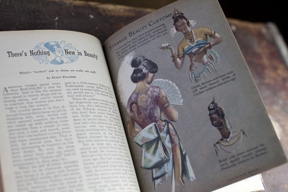 1947 coronet magazine in book form - strange beauty customs