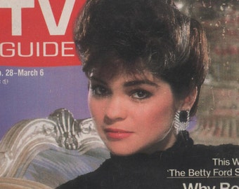 Vintage February 28 - March 6 1987  TV Guide Magazine Wonderful 29th Birthday or Anniversary Gift kitschy goodness