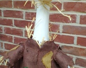 Scarecrow for you lawn goose - Fall goose outfit - Brown - Plastic or Concrete Lawn Goose Clothing - Geese clothes