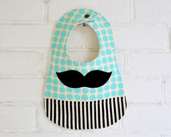 Moustache Baby Bib, Cool Baby Clothes