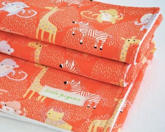 Organic Baby Quilt, Baby Blanket, Eco-Friendly, Animals