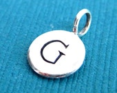 Sterling Silver Alphabet Letter G Initial Charm