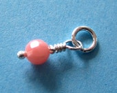 Faceted  Pink Coral Dangle Charm