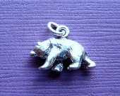 Sterling Silver Brown Bear Charm