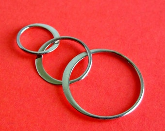 Sterling Silver Three Ring Link Connector