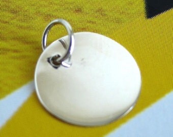 Sterling Silver Blank Disc Tag