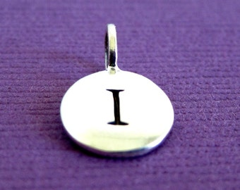 Sterling Silver Alphabet Letter I  Initial Charm