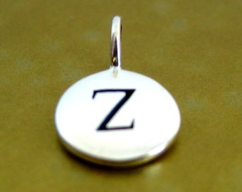 Sterling Silver Alphabet Letter Z Initial Charm